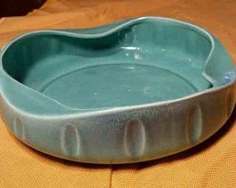 Vintage Haeger   Turquoise Ceramic Dish