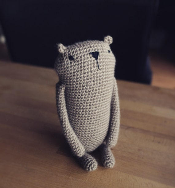 Amigurumi Crochet Size : Amigurumi crochet pattern Mr. Luiwood big size
