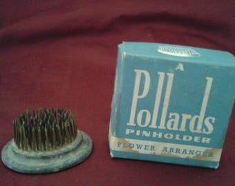 Vintage Pollards pinholder flower arranger