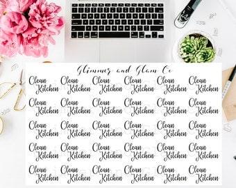 Clean Kitchen Planner Stickers for ECLP Happy Planner Kikki K Filofax