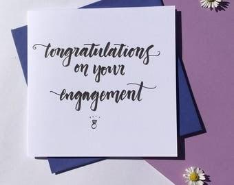 Handwritten Engagement Card