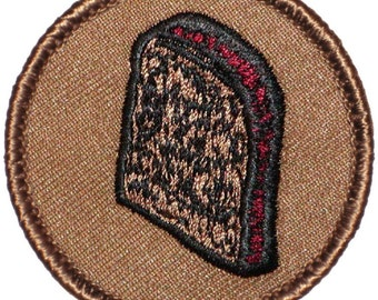 Burnt Toast Patch (240) 2 Inch Diameter Embroidered Patch