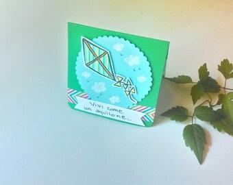 Birthday card - Kites