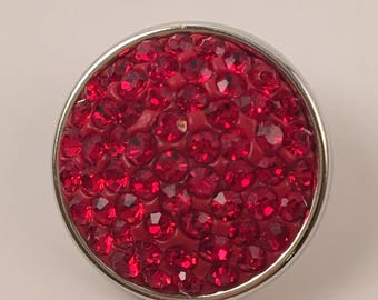 18mm Snap, Color - Red