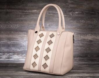 White handbag ivory handbag leather hobo bag woman handbag original handbag modern handbag trendy handbag handmade bag roomy handbag