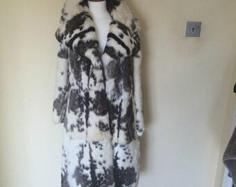 Real rabbit fur coat
