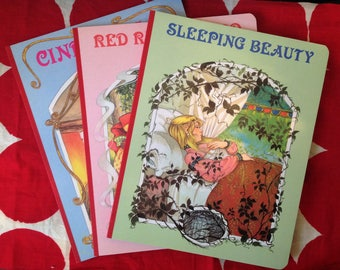 Set of 3 Vintage Fairy Tales illustrated by Pamela Storey, Brown Watson England