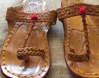 Womens leather slippers
