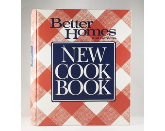 Better Homes and Gardens NEW COOKBOOK, 1990s Version, Better Homes and Gardens, 1980s Cookbook, Recipes, Recipe Binder, Vintage Cookbook