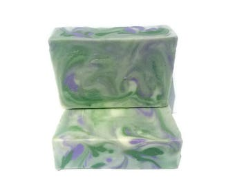 Lavender and Mint Handmade Cold Process Soap-Mint Cold Processed Soap-