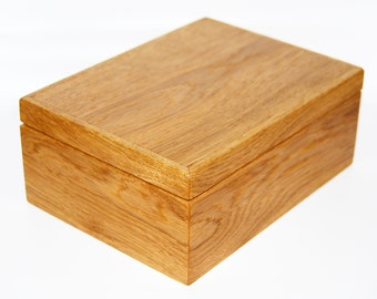 Jewelry box gift box solid oak