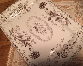 Antique Powell, Bishop and Stonier Chelsea Transferware Platter