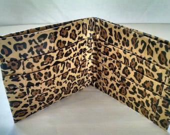 Cheetah print duct tape wallet