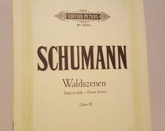 ON SALE, Vintage Sheet Music, Schumann Music, Music for piano, Schumann Waldszanen, Classical Music,Waldszanen Piano, Piano Music, Music