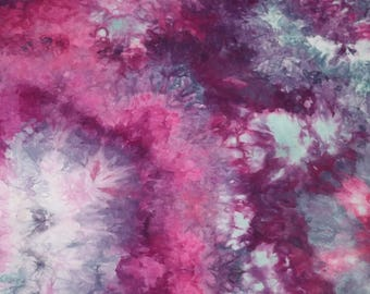 Hand Dyed Fabric, Quilt Fabric, Dyed Cotton Fabric, Purple, Blue, Pink Fabric #353