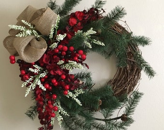 Winter wreath/ Home decor/ On sale/ Valentines wreath/ Winter wreath/ Winter decor/ Valentines decor/ Silk flowers