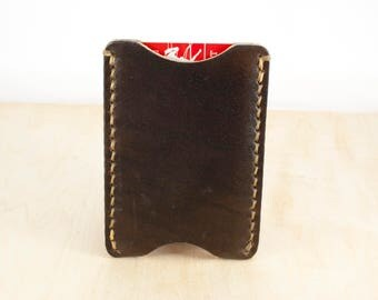 Leather Card Wallet, Mens Wallet, Leather Wallet, Card Holder, Card Sleeve, Front Pocket Wallet, Personalized Wallet, Minimalist Wallet