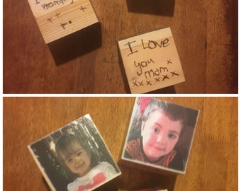 Personaised photo blocks