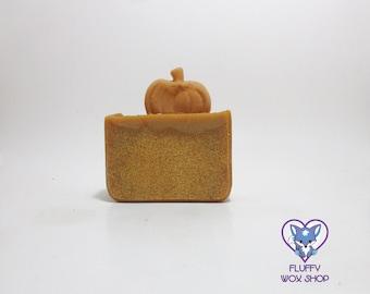 Frosted Pumpkin Handmade Coconut Milk Soap