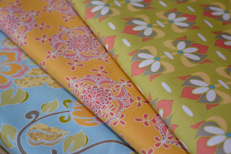 Priscilla Wallpaper In Yellow & Pink Fabric, Riley Blake Designs, 100% Quilting Cotton Fabric