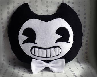 Bendy and the Ink Machine Plush Pillow, Bendy and the Ink Machine Plush Tuy,  Bendy pillow, scary home decore, Bendy felt, Bendy plushie