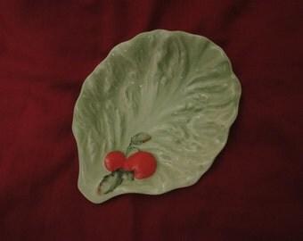 small cabbage leaf plate carlton ware