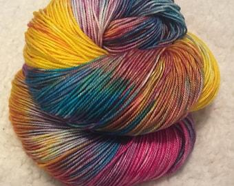 Hand dyed yarn MCS 437 yards 3 ply