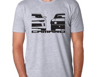 Chevy CAMARO t-shirt GREY ss classic