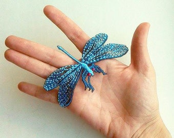 Moks38(p) dragonfly Embroidery Patch