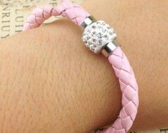 Leather Braided Cuff Bracelet