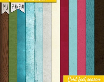 Cold Feet Season Solid papers