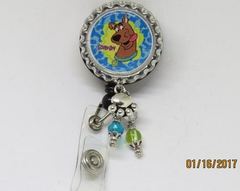Your choice of Scooby Doo retractable ID badge holder- 5 different designs