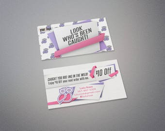 You've Been Caught Roe - Wild Retailer Business Card
