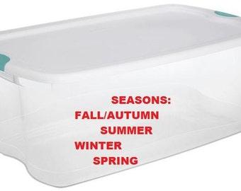 Seasons Themed Educational Box