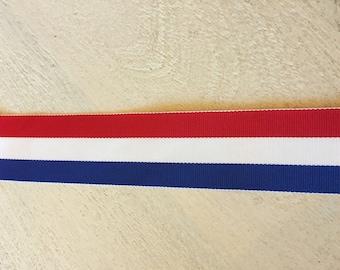 Red, White & Blue 1.5-inch Grosgrain Ribbon
