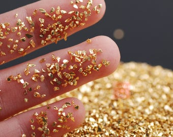 Irregular Stones Nail Art Gold Color Aurum Crushed Glass Powder Decoration Broken Nail Decoration Glitter Powder Colorful stones Rhinestone