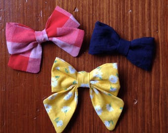 Fabric Hairbow Set