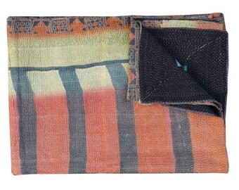 Kantha Quilt, Kantha Throw, Patchwork quilt, Vintage Quilt, Vintage Kantha Quilt, Kantha blanket, Patchwork throw, Reversible quilt