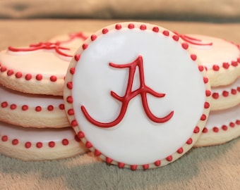Alabama Roll Tide Cookies, University of Alabama, Alabama Cookies, Roll Tide, Crimson Tide, Football, College Football, Football Party