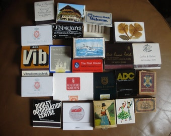 Vintage Matchbooks and Matchboxes Lot Matchbook Cases Vintage Cigarette