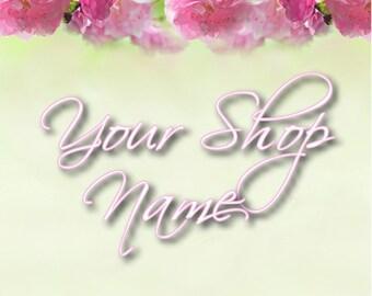 Rose Topper Banner, Floral Banner Set, Shop Banner Set, Graphic Design, Shop Banner, Banner Design, Custom Banner, Premade Banner