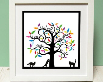Original design family tree print