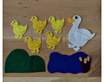 Five Little Ducks Felt Story