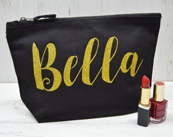 Personalised Make Up Bag | Personalized Make Up Bag | Personalised Gift For Her | Personalised Costmetic Bag | Makeup Bag with Name