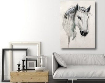 Head of a white horse made to order