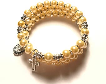 Child's Rosary Bracelet Wrap,First Communion