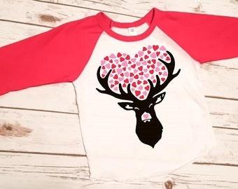Girls Valentine Shirt   Womenu0027s Valentine Shirt   Happy Valentineu0027s Day  Yu0027all   Deer