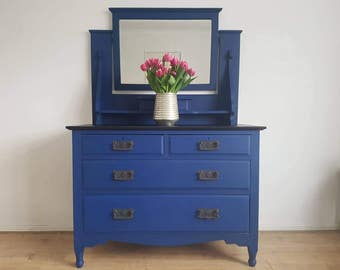 Edwardian dressing table with mirror