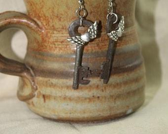 Antique key earrings-- Steampunk