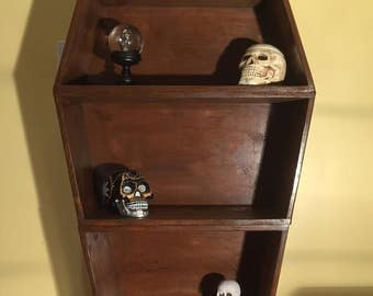 Coffin Bookshelf Stained